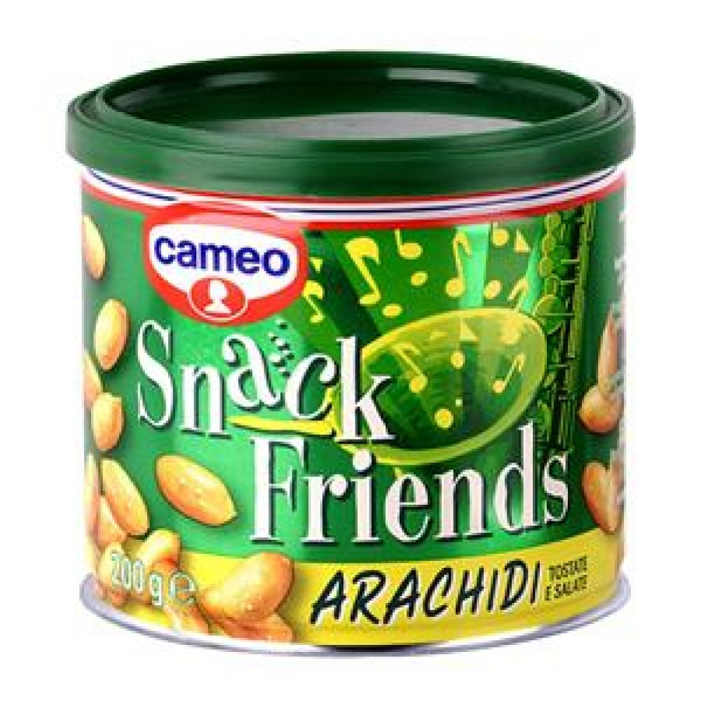 ARACHIDI LATTINA 200 G  CAMEO  -SALTED PEANUTS